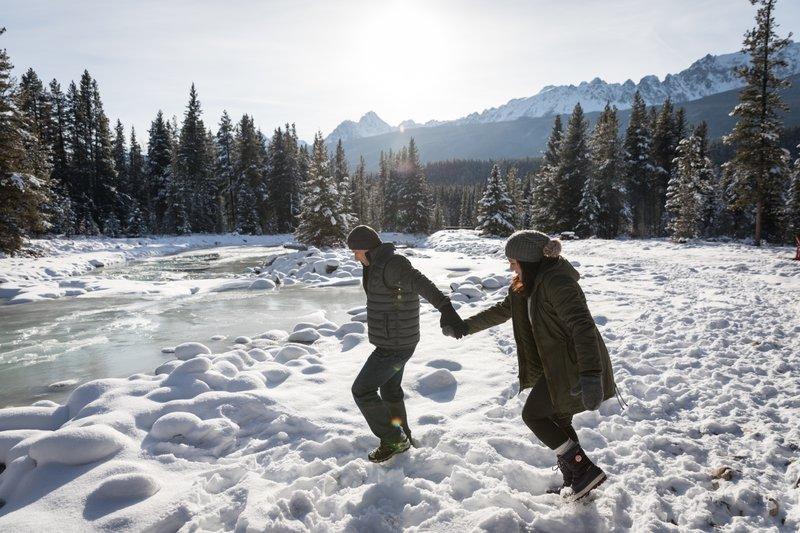 Winter Walk, Banff Lake Louise Tourism, photo by Noel Hendrickson