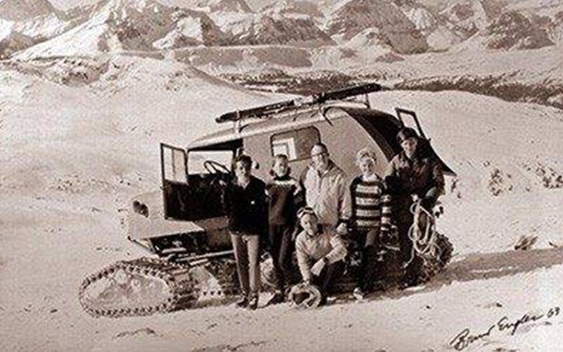 first experimental heli-ski excursion