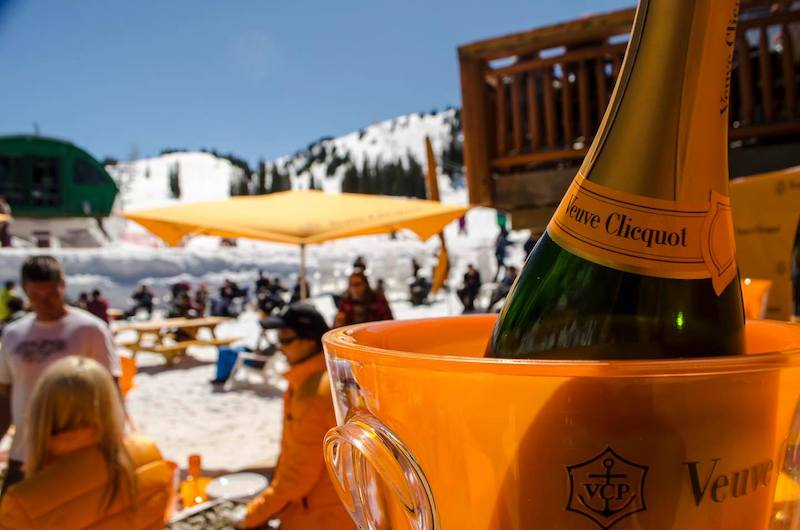 Veuve Clicquot in the Snow at Banff Sunshine Village