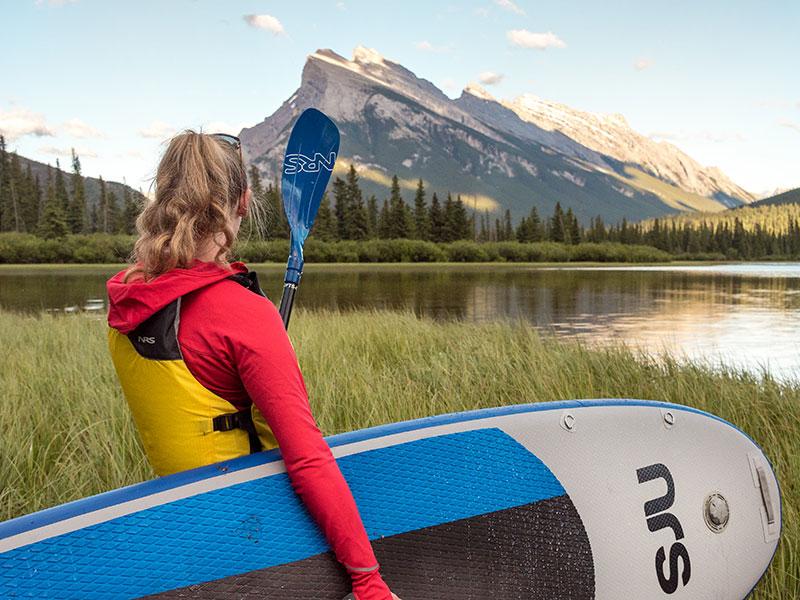 Paddling on Vermillion Lakes, photo by Will Lambert