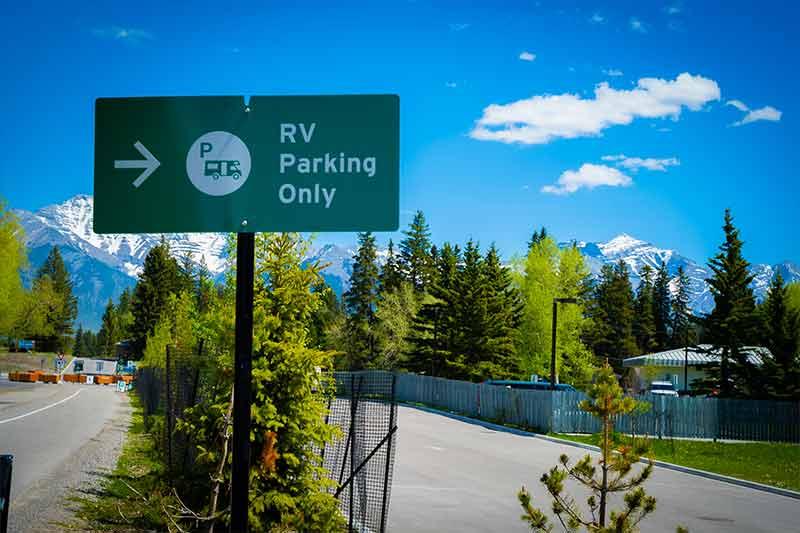 RV Summer Parking in Banff