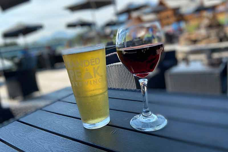 Beer vs Wine Lunch at Lake Louise