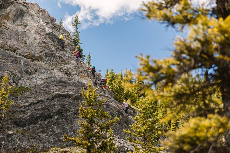 Via Ferrata at Mt. Norquay by Jesse Tamayo