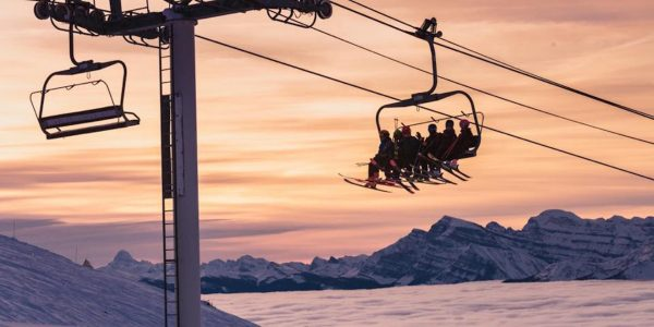Chairlift at Lake Louise Ski Resort.