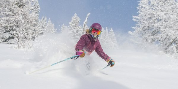 Early season powder skiing at Lake Louise Ski Resort