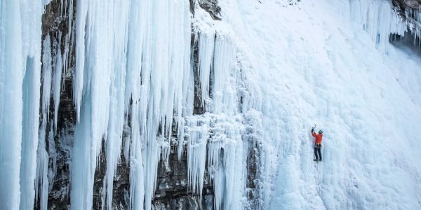 Winter Ice Climbing Johnson Canyon
