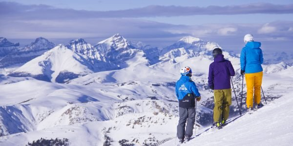 SkiBig3 Guided Adventure group at Banff Sunshine Village